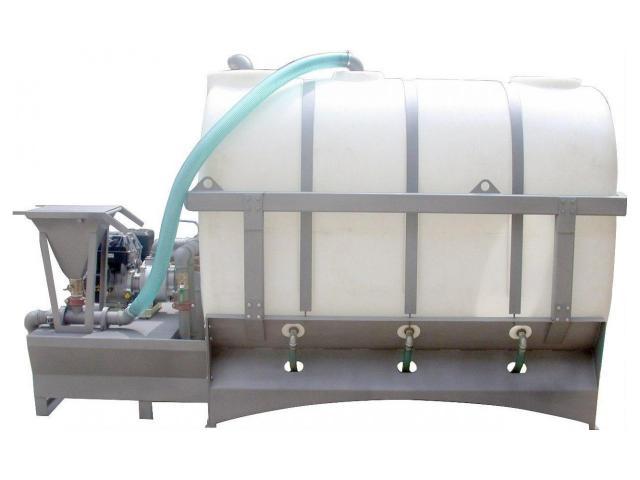 НСУ для приготовления и подачи бурового раствора накопительной ёмкостью резервуара 3 м³