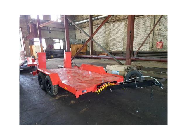 Низкорамный прицеп для перевозки ГНБ установок до 4 тонн