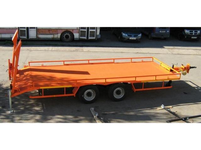 Низкорамный прицеп для перевозки ГНБ установок до 8 тонн