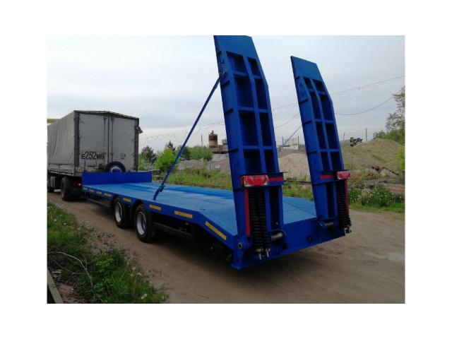 Низкорамный прицеп для перевозки ГНБ установок до 9 тонн