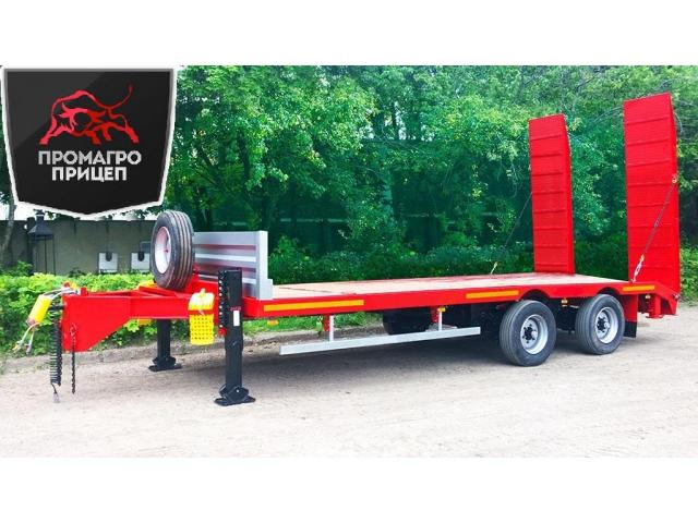 Низкорамный прицеп для перевозки ГНБ установок до 19 тонн