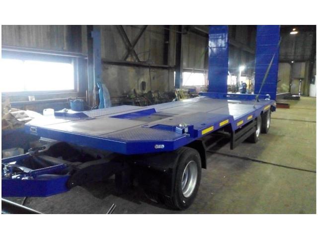 Низкорамный трехосный прицеп для перевозки ГНБ установок до 27 тонн