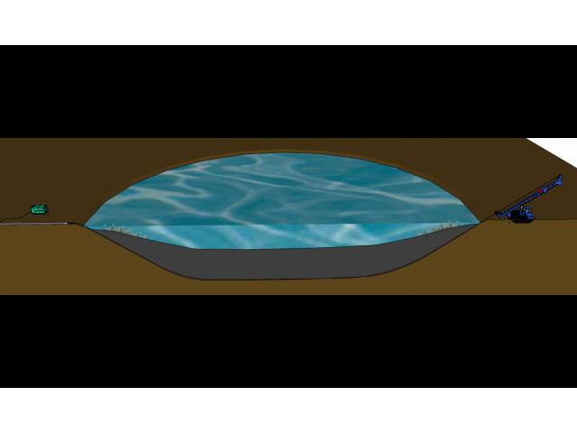 Добыча озерного сапропеля через наклонную скважину ГНБ